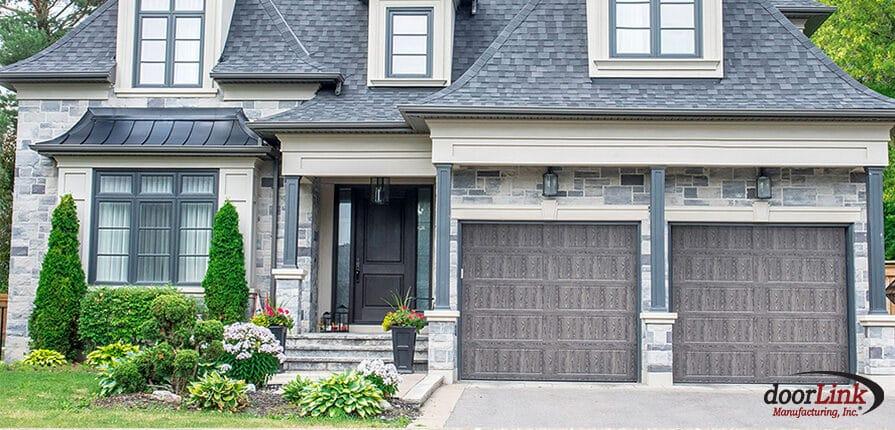 doorlink 480 long recessed panel driftwood garage door
