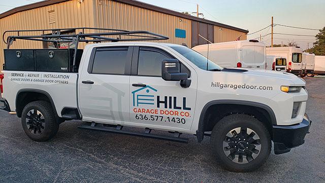 Hill Garage Door Co. Commercial Garage Door Service Truck