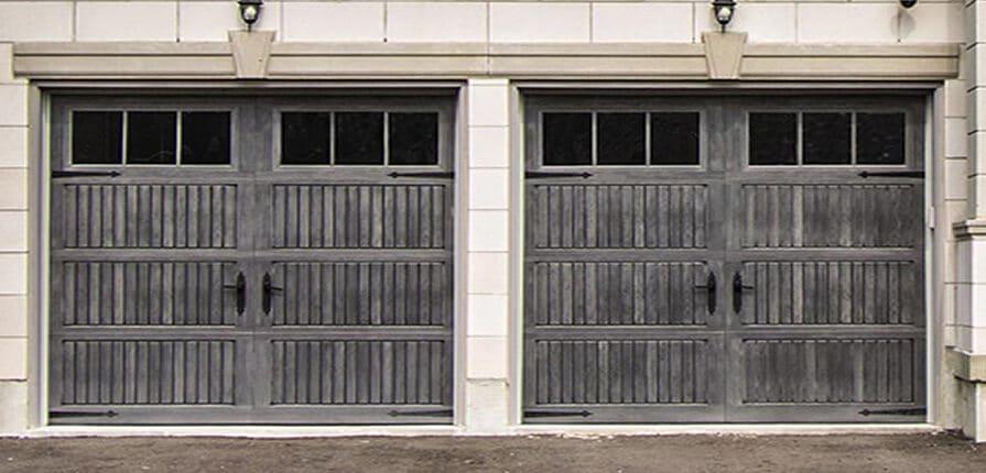 Wayne Dalton 9800 Sonoma Gray Fiberglass Garage Door